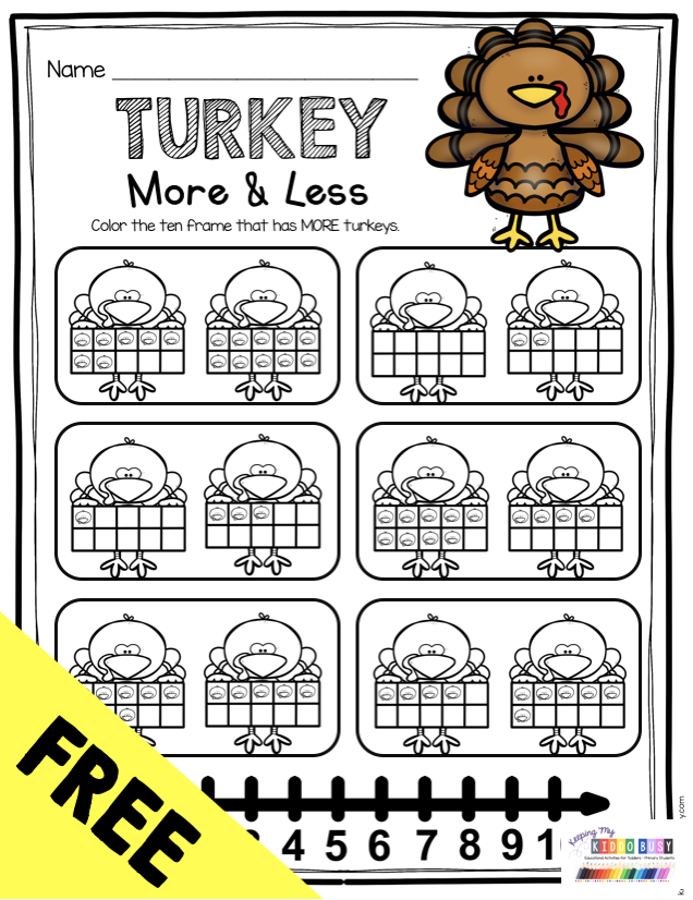 November Math And Literacy Pack Freebies Keeping My Kiddo Busy Thanksgiving Activities For Kindergarten Thanksgiving Math Kindergarten Thanksgiving Math Worksheets Free