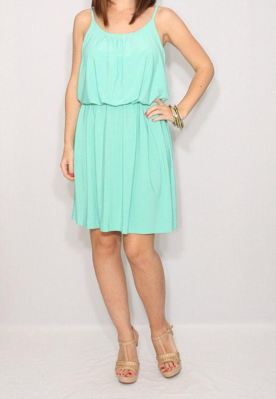 545004f429d Bridesmaid dress mint short Boho dress Sundress Summer dress Prom dress  Casual dress Party dress Spa