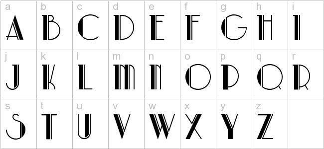 New York 1920s Font