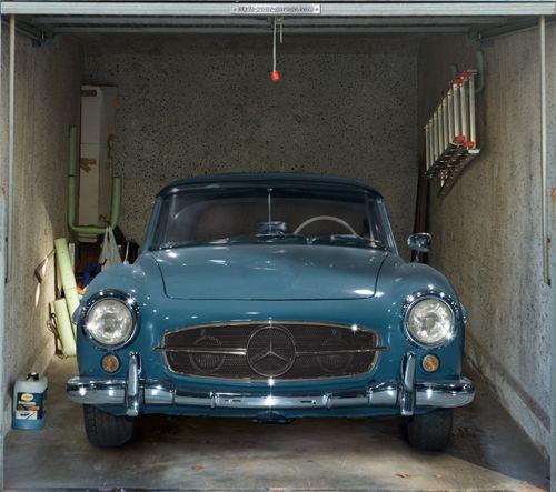 Fotoplane für Garagentor Mercedes´59 / Garage Mural Mercedes´59