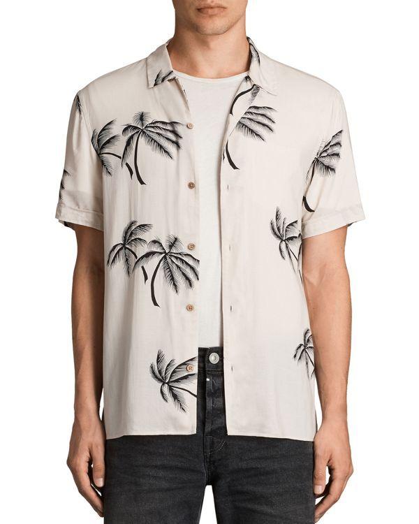 Allsaints Offshore Short Sleeve Slim Fit Shirt
