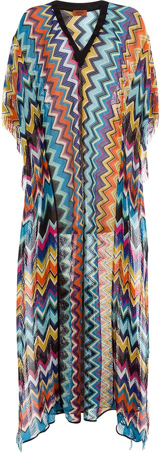Missoni Mare knitted beach dress - Amarillo Y Naranja mKXFx