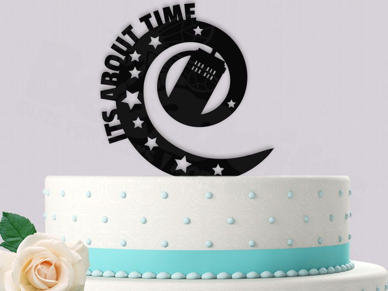 Tardis Its About Time Wormhole Doctor Who Inspired Event Wedding Cake Topper