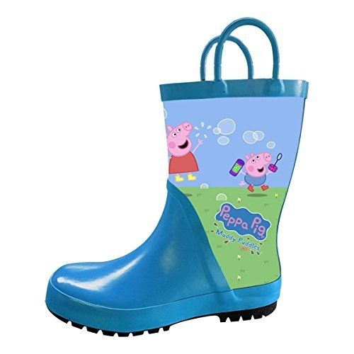Boys Girls Peppa Pig Waterproof Rubber Rain Boot Toddler Boots Rubber Rain Boots Kids Boots