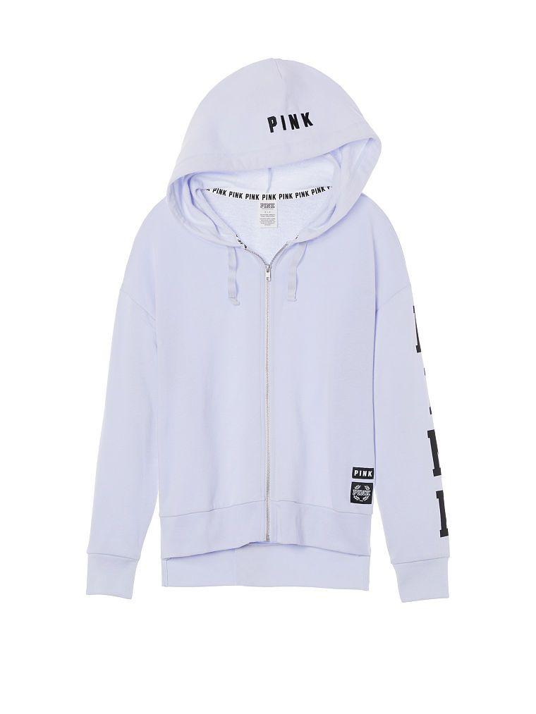 Slouchy Full-Zip Hoodie - PINK - Victoria's Secret | Hoodies ...