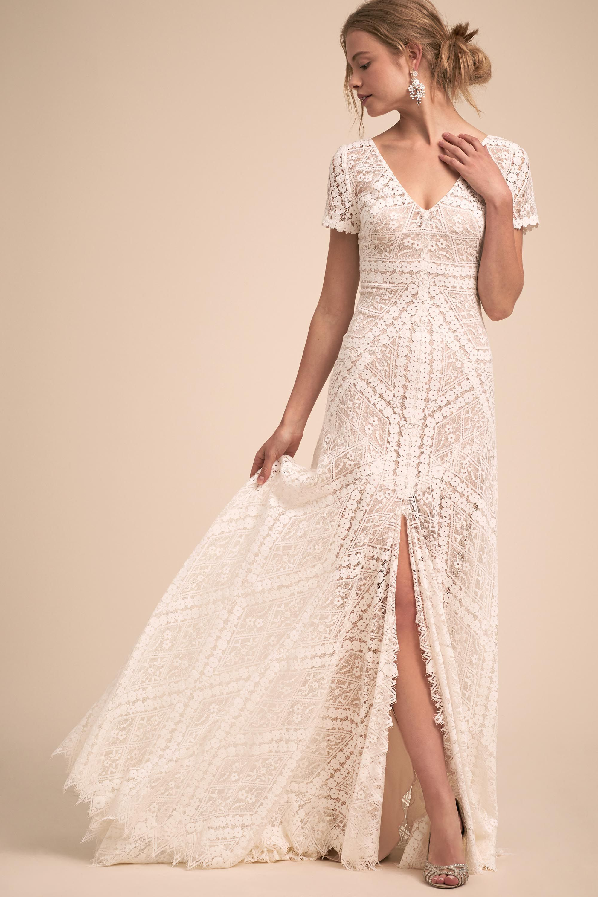 7087fb81141c BHLDN's Watters Clements Gown in Ivory | la mode | Romantic bohemian ...
