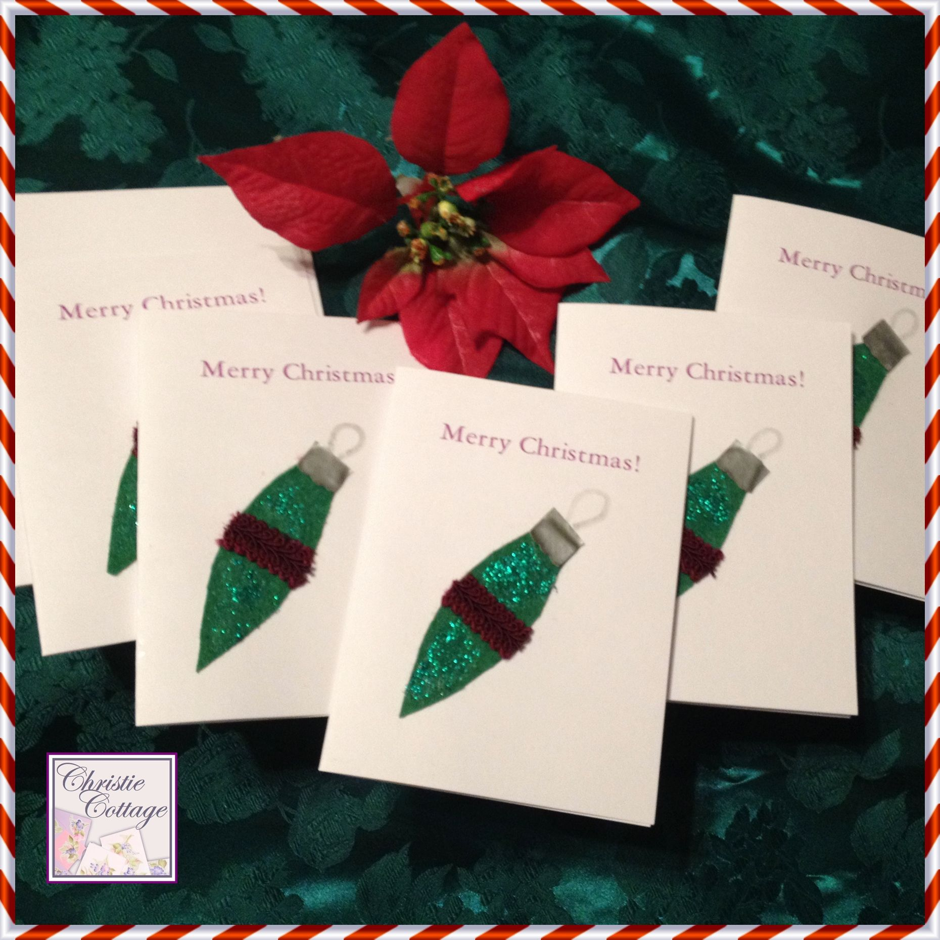 These Cute Christmas Cards Were Made With Felt Scraps And