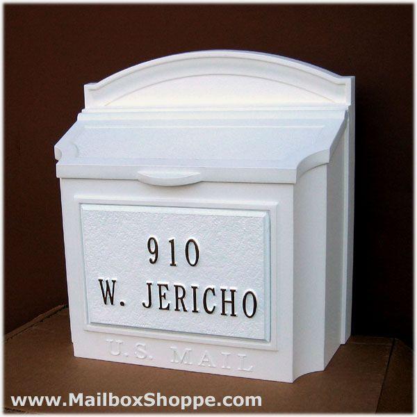 Whitehall Wall Mailbox & Custom Cast Address Plaque