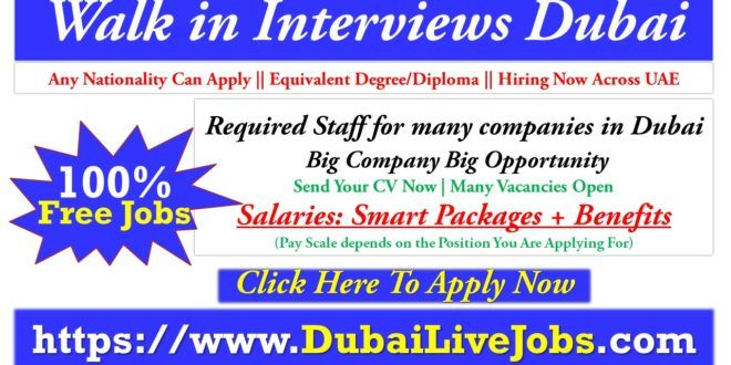 Walk In Interview In Dubai Uae Today Tomorrow July 2020 In