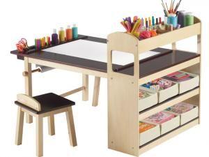 Bureau enfant design avec rangements id es chambres - Fabriquer un bureau pour enfant ...