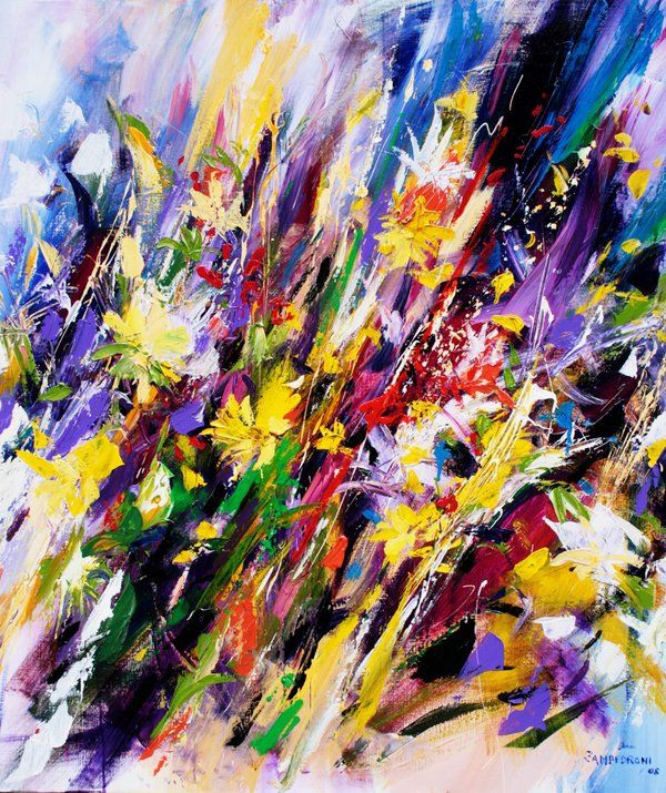 abstract flowers painting...mario zampedroni | ART | Pinterest ...