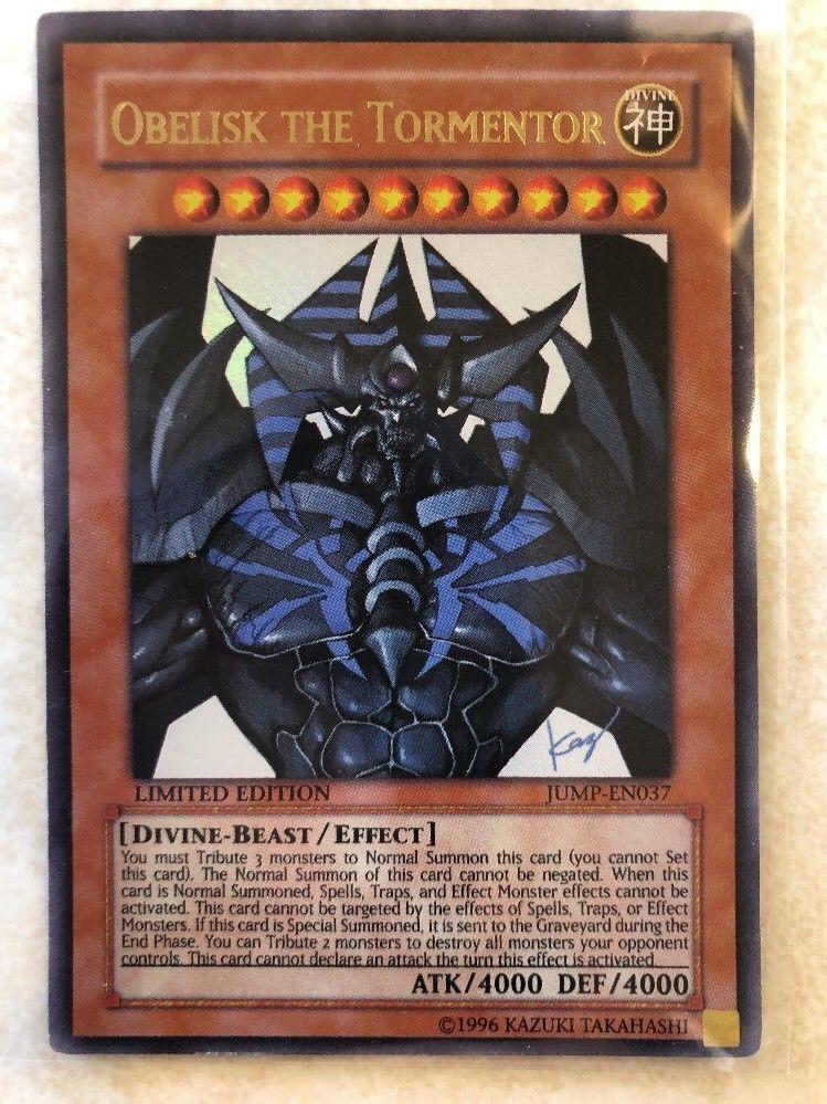 1996 yugioh obelisk the tormentor jumpen037 limited