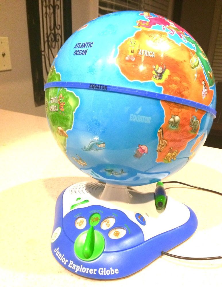 LEAP FROG Junior Explorer GLOBE Learning World TALKING ...
