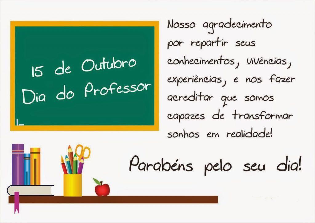 Cartoes Com Mensagens Para O Dia Dos Professores Para Imprimir