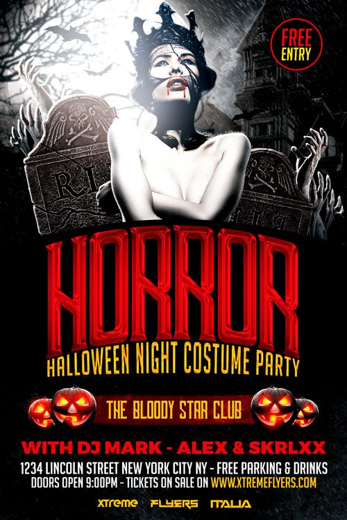 pin by brian perry ptk on dj flyer pinterest halloween flyer