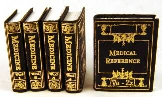 Medical reference set - $13.00 : S P MINIATURES - hand crafted dollhouse scale miniatures, S P MINIATURES - shop online for dollhouse scale miniatures #miniaturemedical