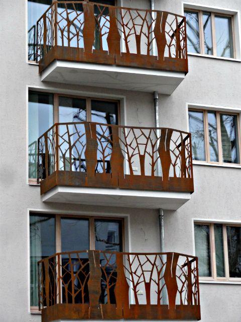 Balkon Bal 1000 Smg Treppen Cor Ten Corten Stahl Balkon