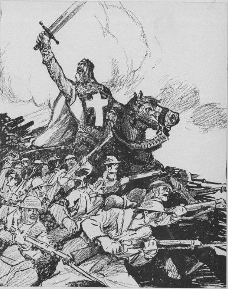 "Patrick Chovanec on Twitter: ""Nov 18, 1917 - Cleveland Plain Dealer depicts British campaign to capture Jerusalem from Turks as a modern-day crusade #100yearsago https://t.co/DxvIPvjUqC"""
