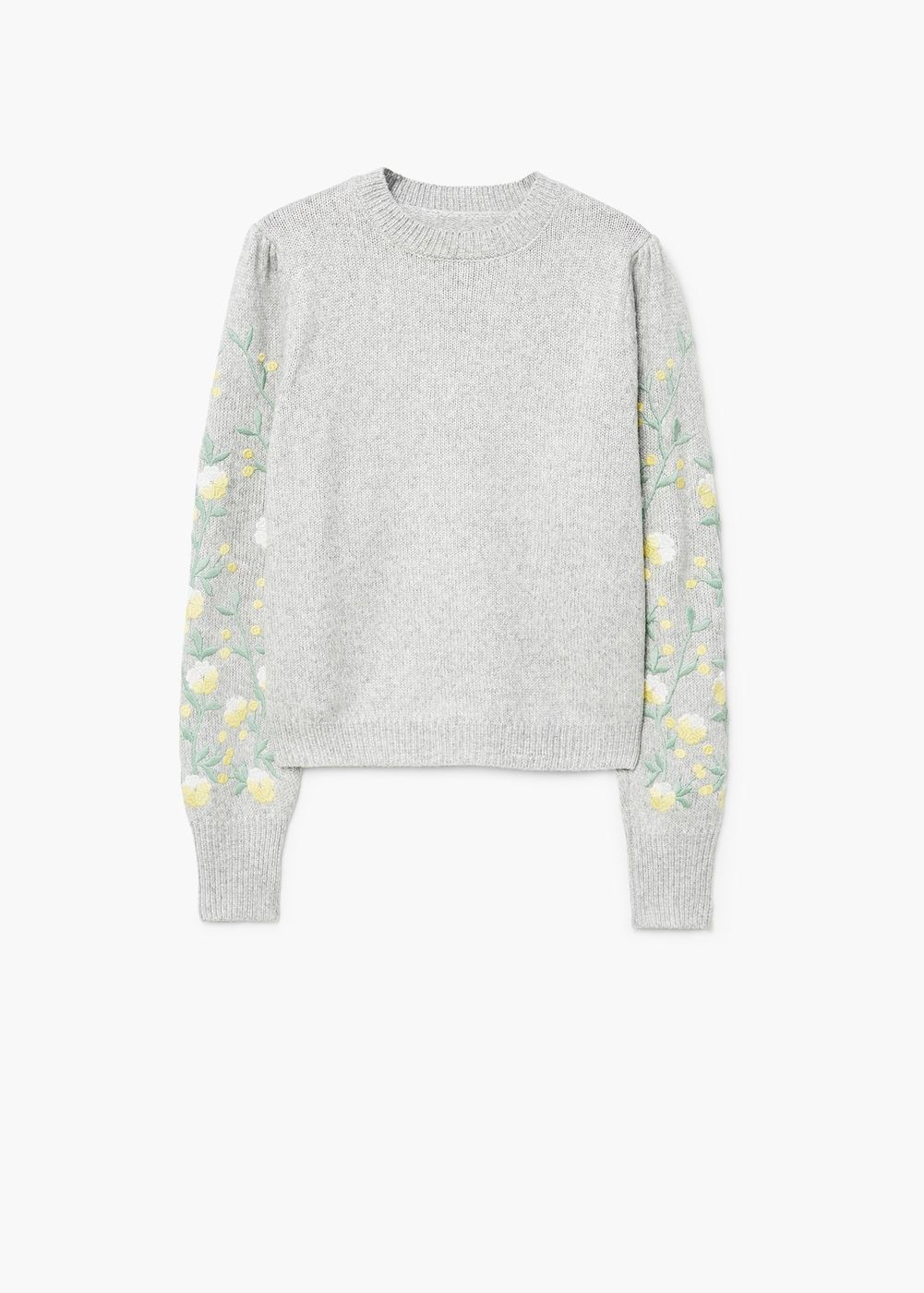 Jersey bordado floral - Mujer  88061c0142e6