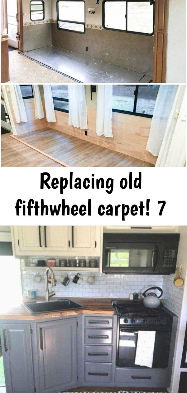 Replacing old fifthwheel carpet 7 Replacing That Old Carpet  KREATING HOMES Amazing Travel Trailers Remodel Rv Living Ideas 12 Tips for decorating a caravan by The Twinkl...