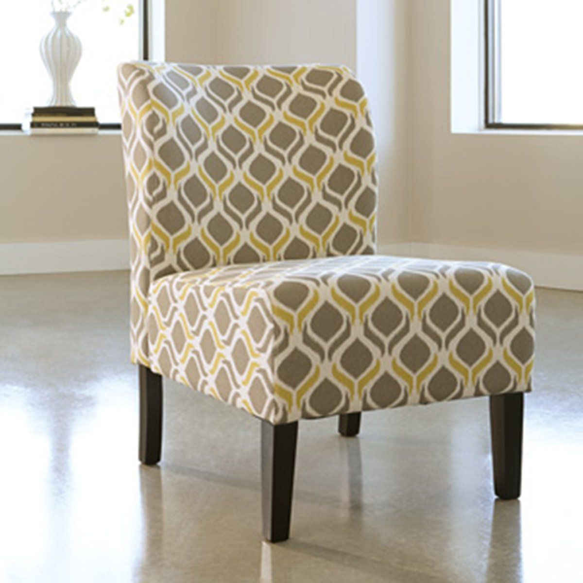 Upholstered Accent Chair Gunmetal Upholstered Accent