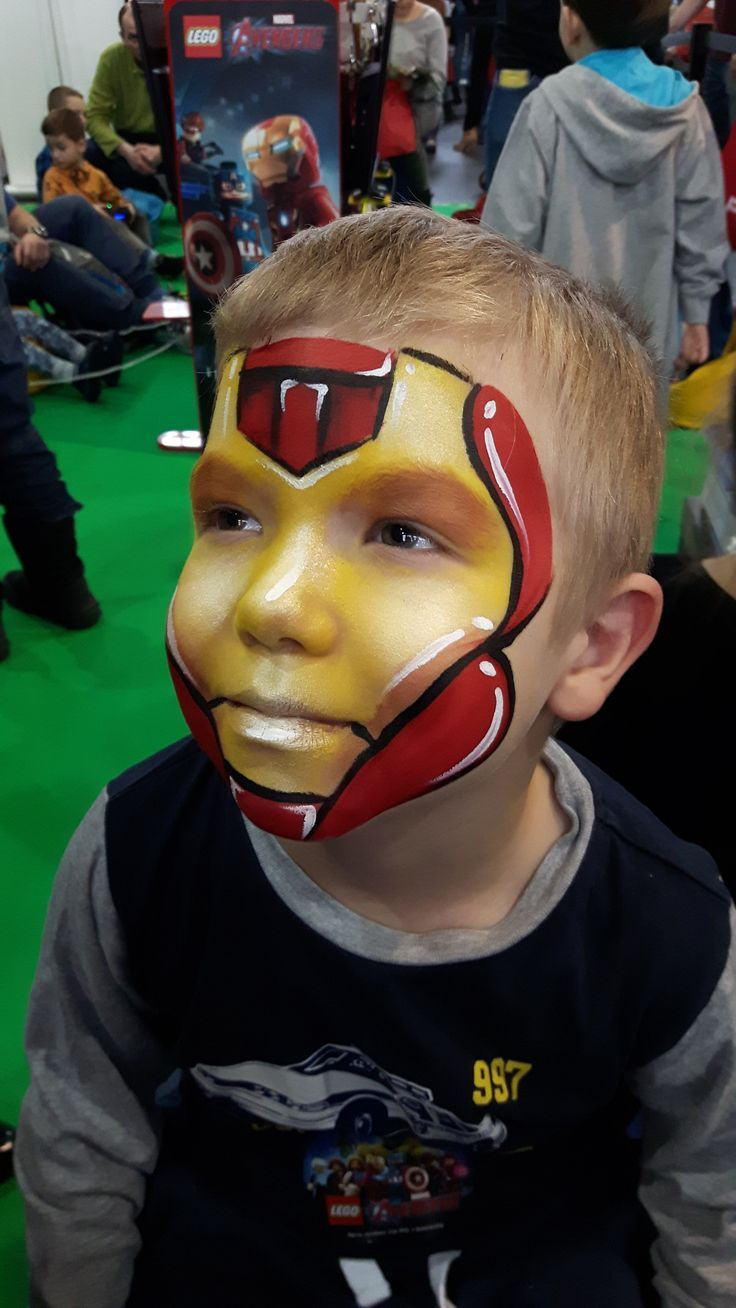 Pintacaritas Ironman Buscar Con Google Superhero Face Painting Iron Man Face Paint Kids Face Paint