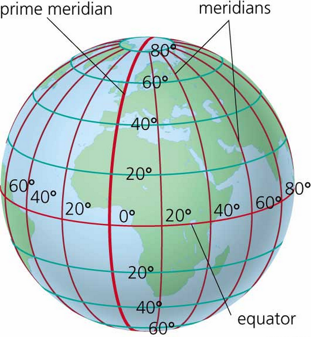 Map Of Latitude And Longitude Coordinates