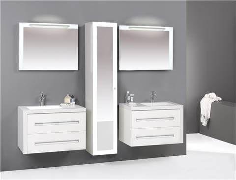 Badkamermeubel you cm dubbel hoogglans wit badkamer