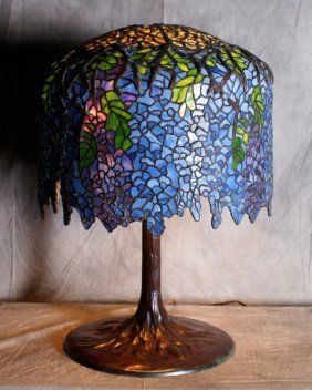 A superb tiffany studios wisteria table lamp w over the top 2017 a superb tiffany studios wisteria table lamp w aloadofball Image collections