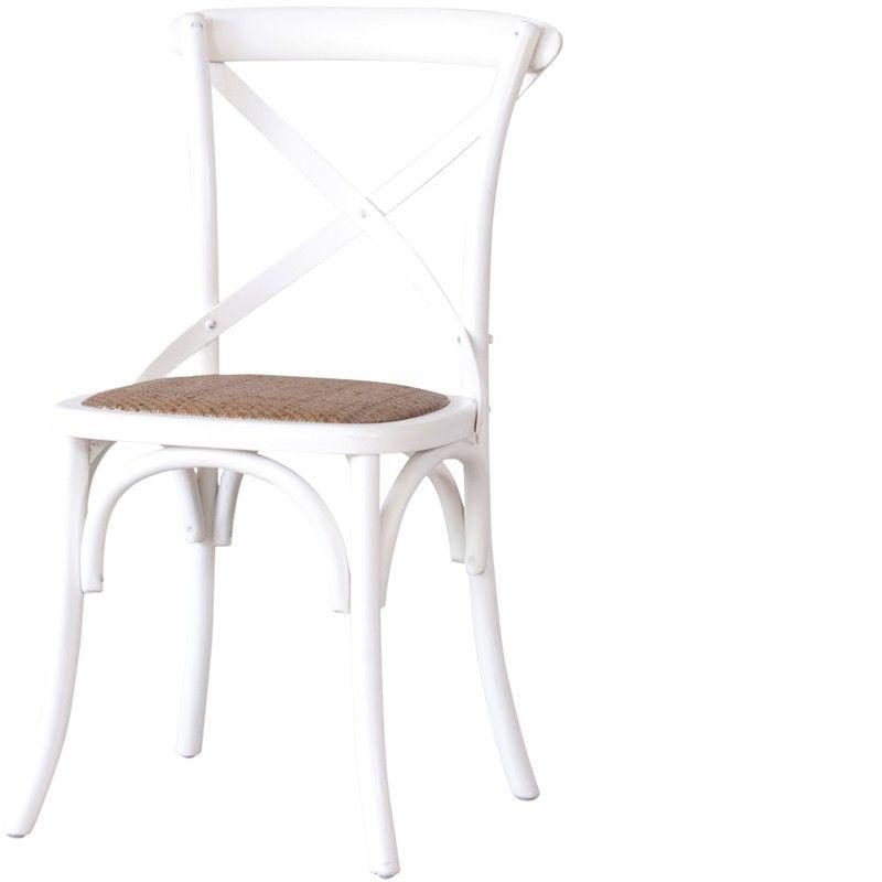 La Chaise Bistrot Blanche A Beaucoup De Style Et Va Vous Seduire Avec Sa Forme Vintage