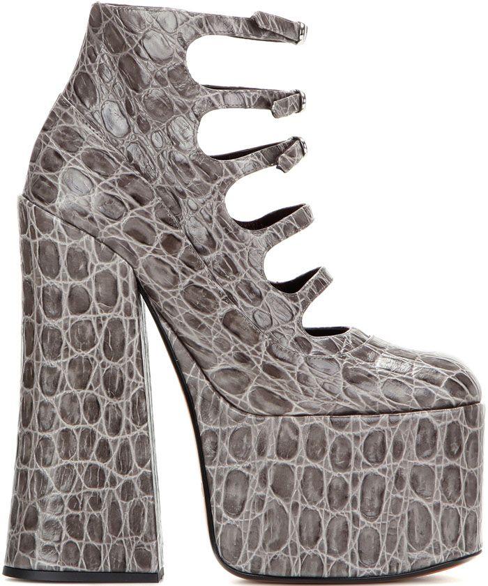 Marc Jacobs Lili Embossed Leather Platform Pump CStdzYbjoE