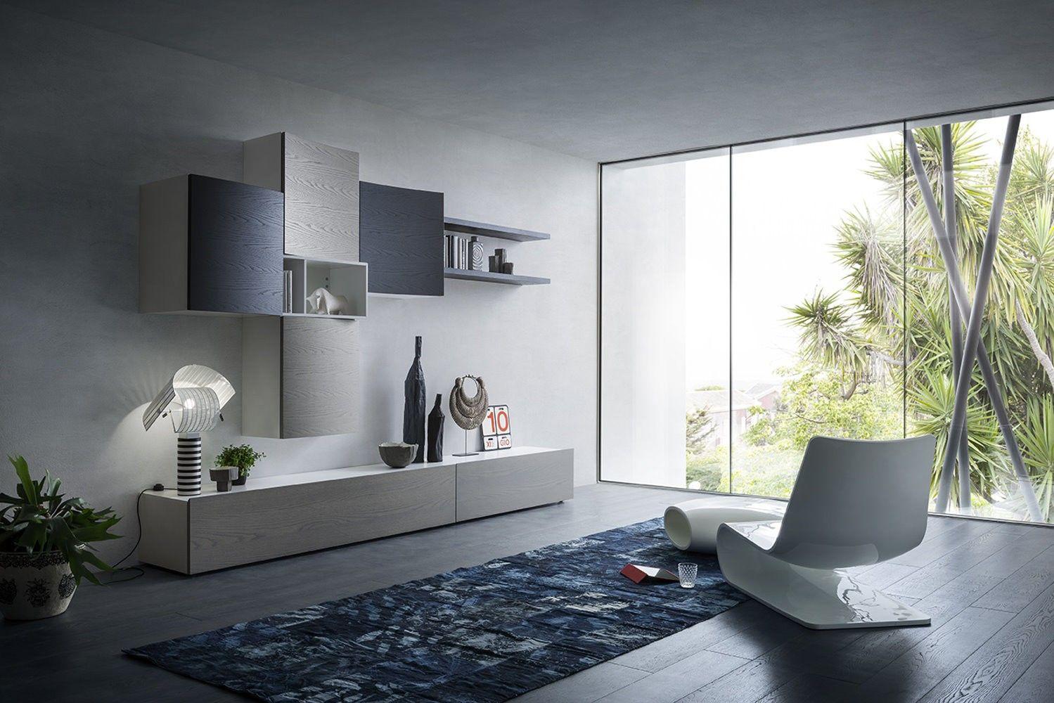 Mobili A Giorno Componibili.Parete Attrezzata Soggiorno Living Livingroom Mobile Soggiorno