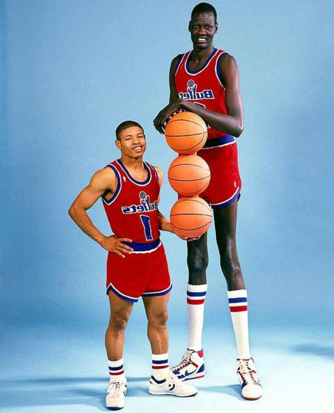 Short Vs Tall Manute Bol Basketball Players Nba Players
