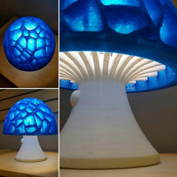 Mushroom Lamp 3d Printed Hippy Lava Table Lamp En 2019