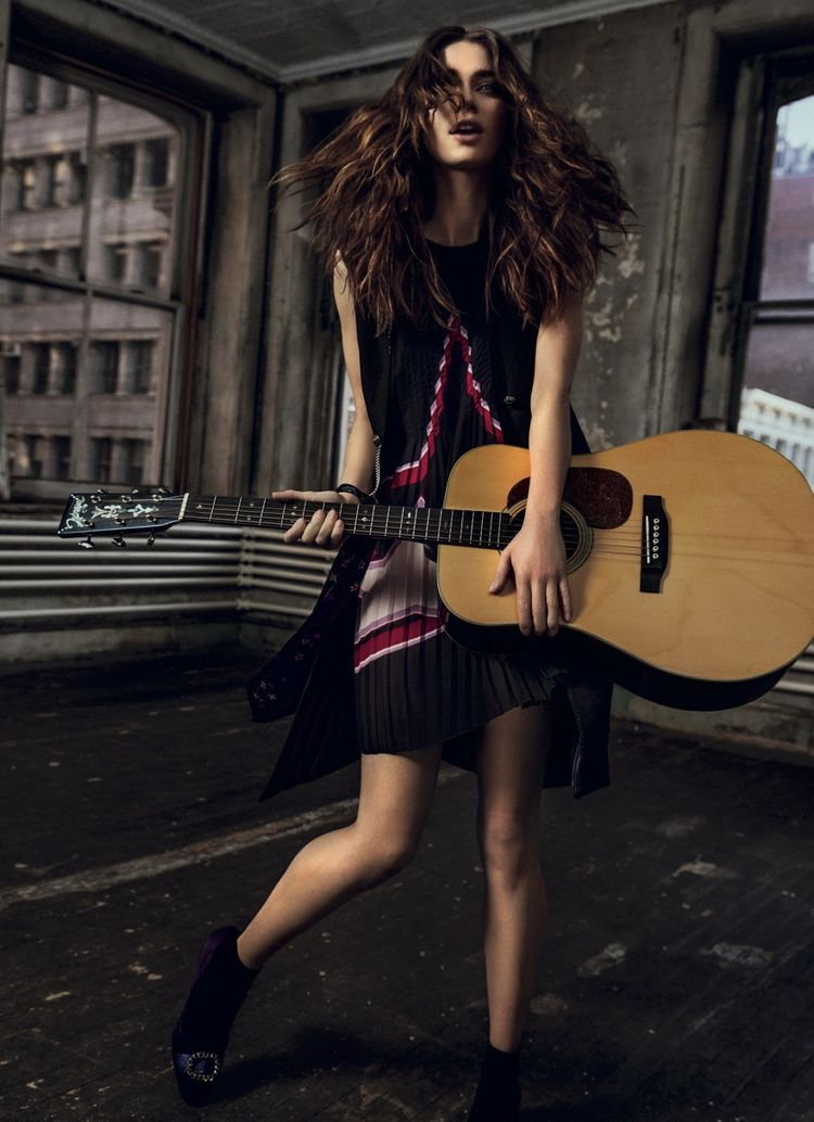 in spirit rock 'n' roll: iulia cirstea by michael groeger for elle romania may 2015