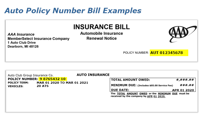 Find Your Auto Insurance Policy Number Car Insurance Insurance