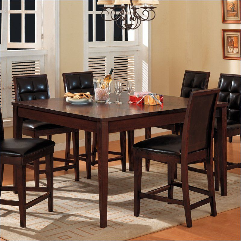 dining room table and chairs mixing woods | wooden costco dining