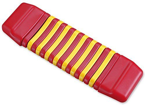 "HohnerKidsPlasticClatterpillar(colorsmayvary) by Hohner Inc.. $13.09. Plastic Clatterpillar features easy-grip handles. Age- 3 years and older. The design is based on the traditional Japanese ""kokiriko"".. Gentle hand motions create waves of color and clattering with this exotic rhythm instrument. Our plastic version is based on the traditional wood ""koko-riko"" and is suitable for children 3 years of age and older. Hohner Kids brings you the finest childrens musical instruments ..."