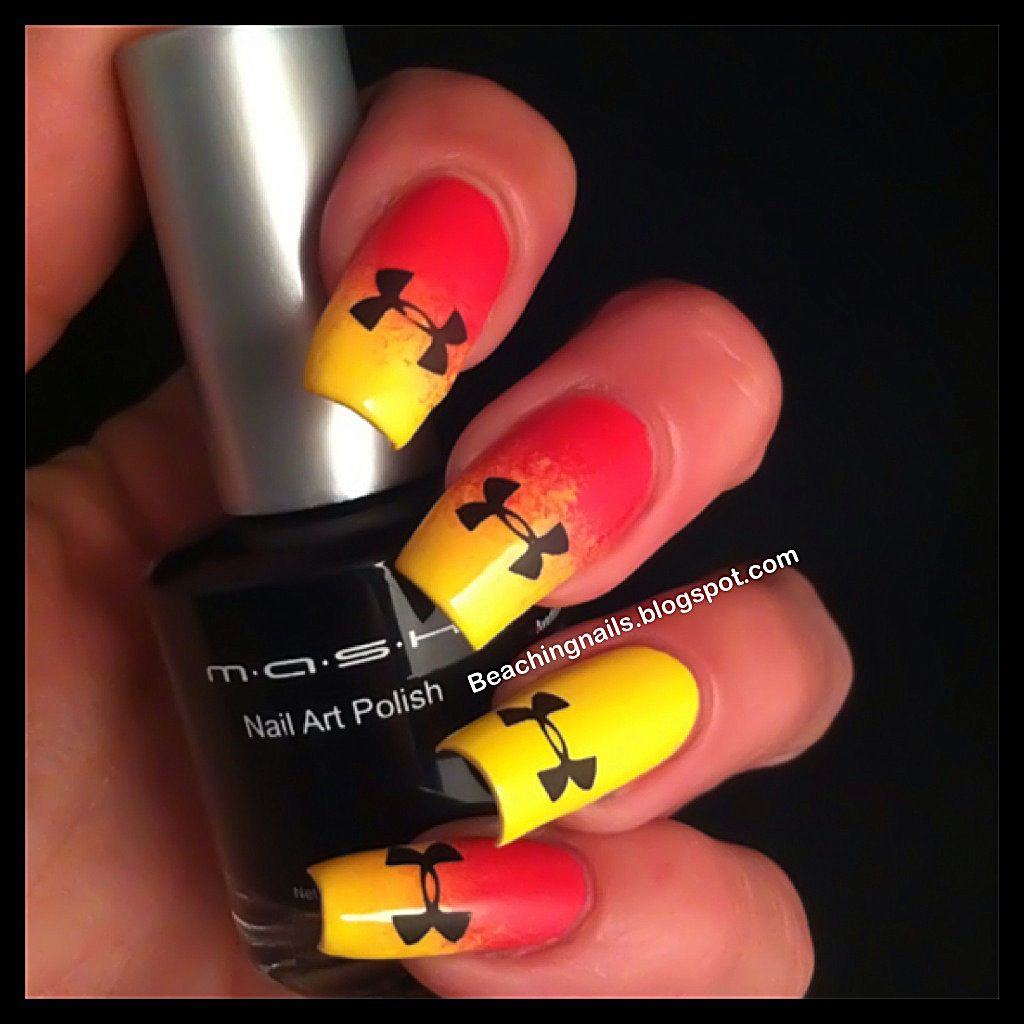 Under Armour Mani | Nails | Pinterest | Armours, Nike nails and Make up
