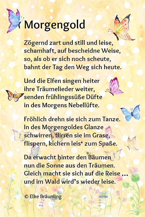 Morgengold Deutsch Frühlingsgedicht Gedicht Sommer Und