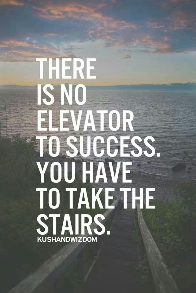 There Is No Elevator To Success. You Have To Take The Stairs.
