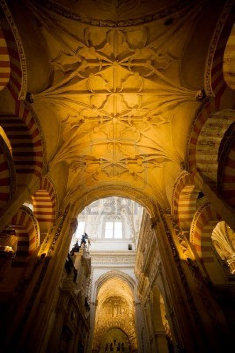Mezquita Cathedral The Great Mosque Ribbed Vaulting Historic Ribbed Vault Cathedral Vaulting