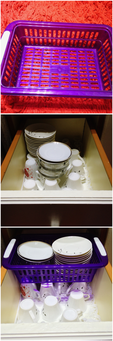 And this how I keep my drawer organized and has more space which helps my kitchen stay neat