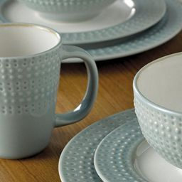 Buy Denby Intro 16 Piece 4 Person Textured Dinner Set Duck Egg Blue from & Buy Denby Intro 16 Piece 4 Person Textured Dinner Set Duck Egg ...
