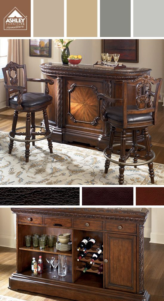 North S Bar Ashley Furniture Home Brown Browns Tan Tans Earthy Earthytones Earthytone Earthycolorscheme Earthycolorschemes