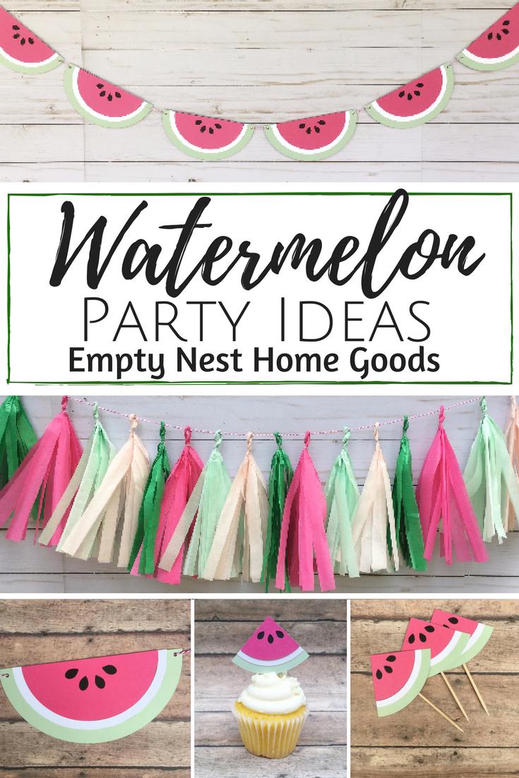 Watermelon Banner • Summer Fruit Banner • Tutti Fruity Party ...