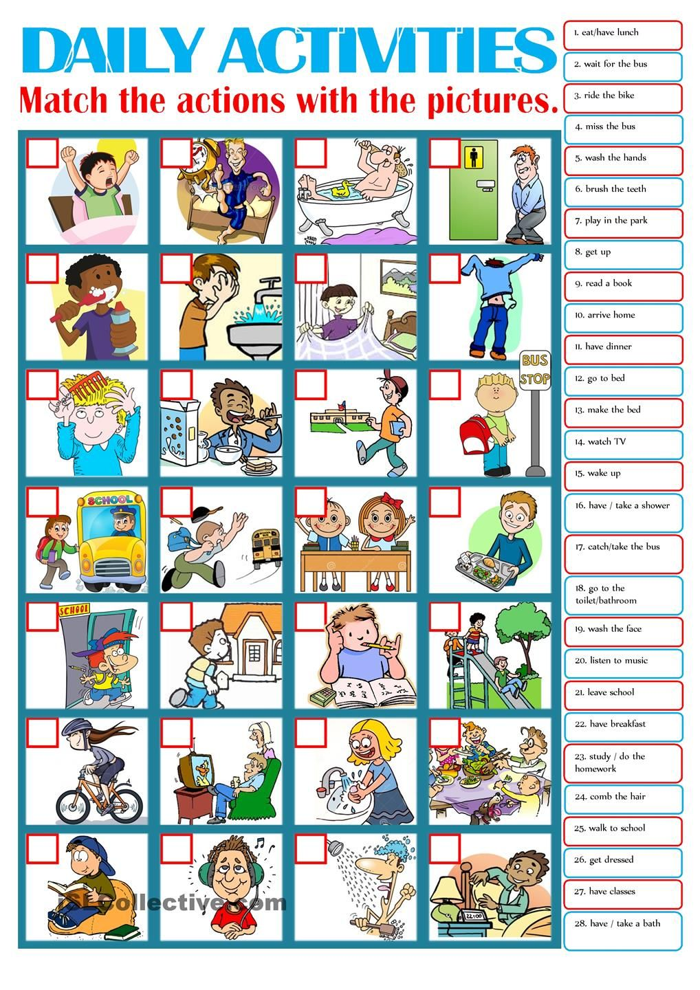 childs daily activities - 736×1041