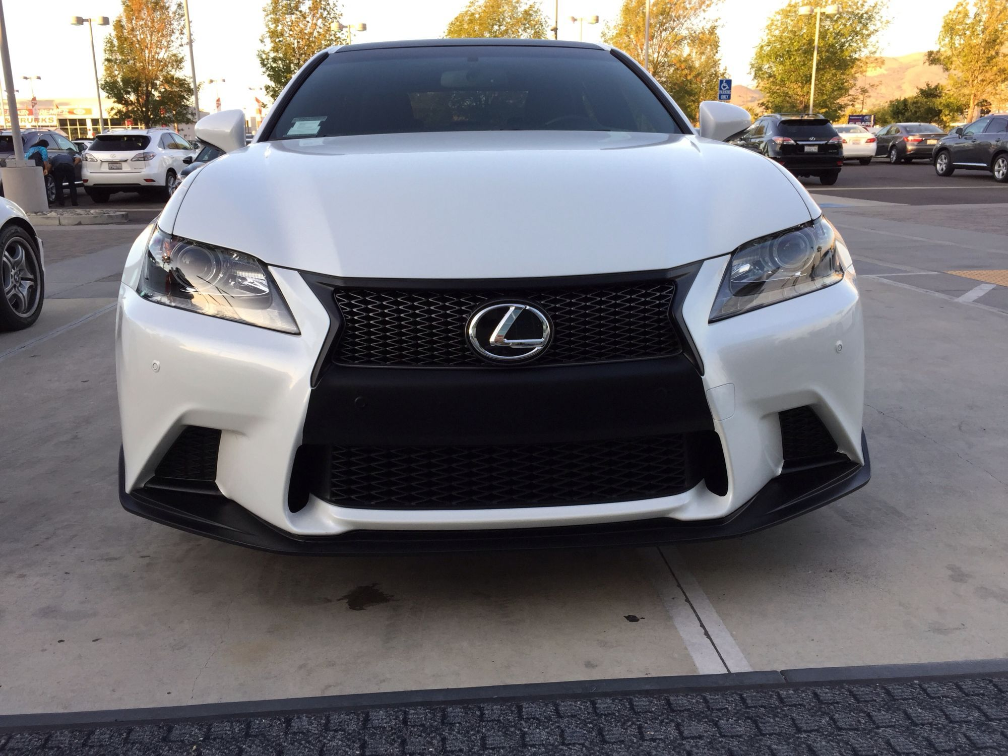 GS 350 front bumper black to match sport grill Club