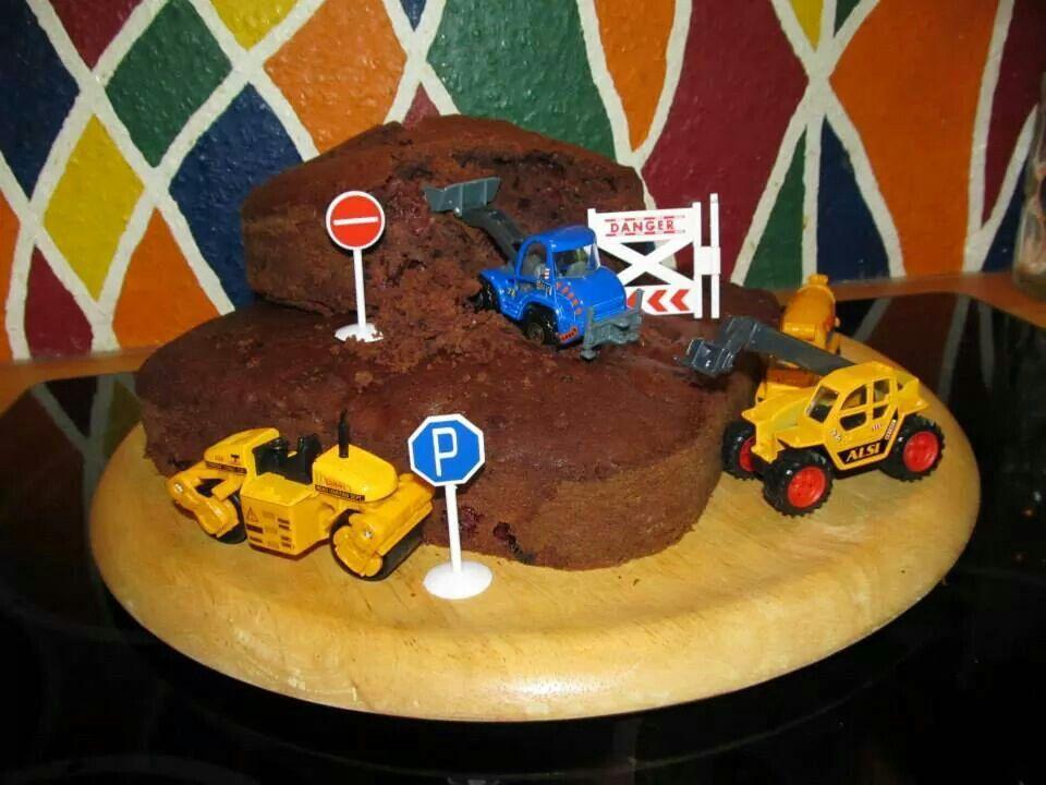 Baustelle Bagger Kuchen Zum Geburtstag Jungs