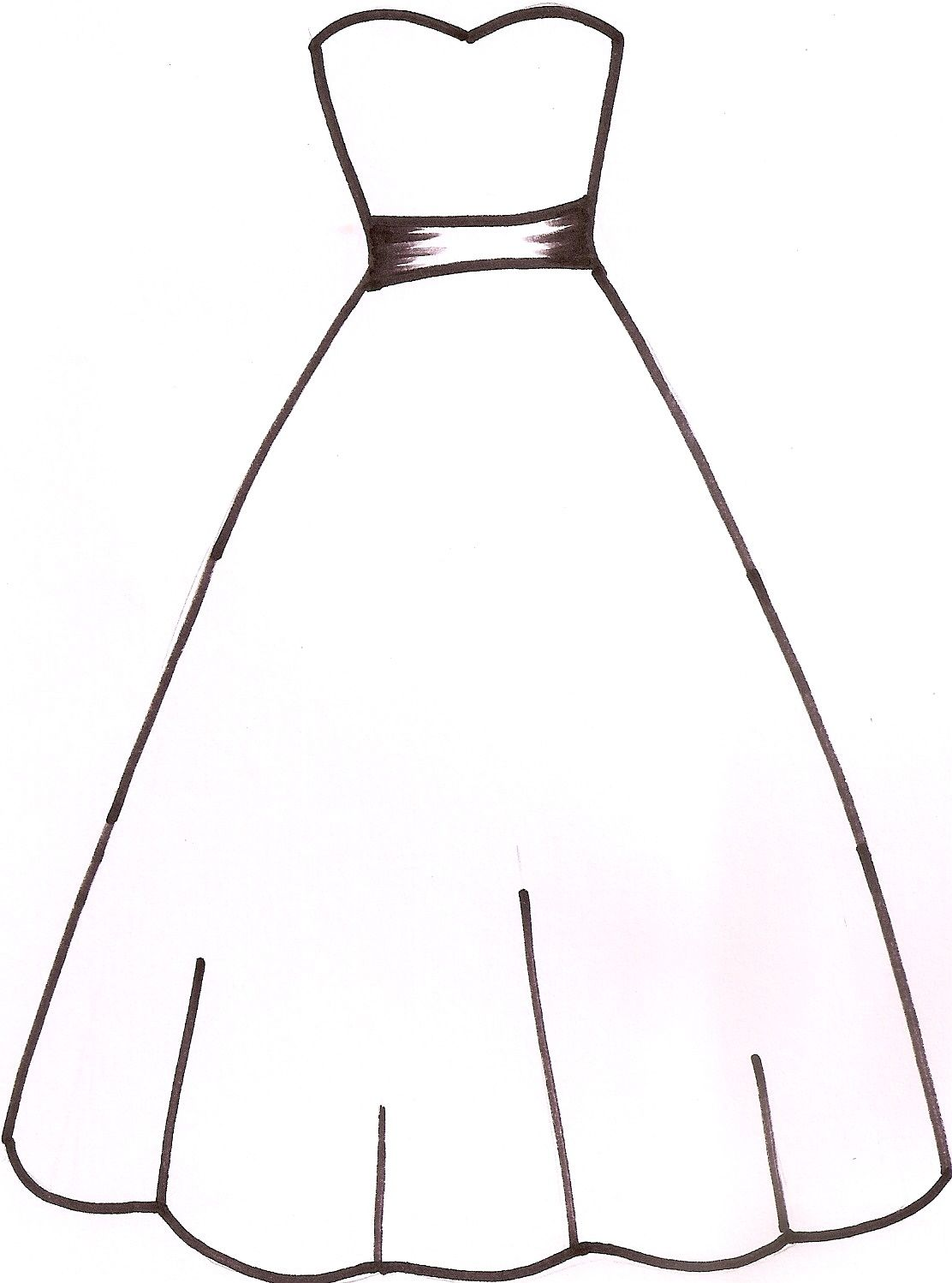 Wedding Dress Template I drew this template at the request of CC